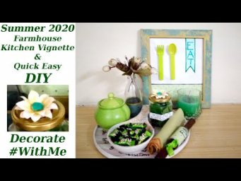 Easy Daisy Paper Flower DIY & Decorate Farmhouse Summer Kitchen Vignette 2020 #WithMe