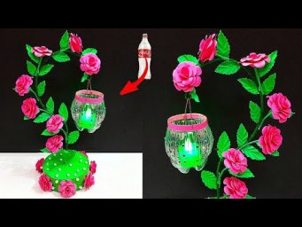 Easy showpiece/tealight holder made From Plastic Bottle| DIY home decoration ideas| bottle craft