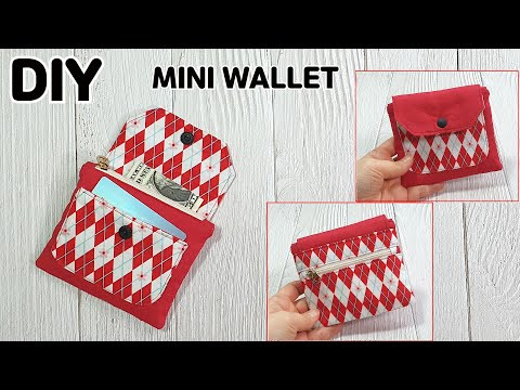 DIY MINI WALLET WITH 4 POCKETS / Zipper pouch / sewing tutorial [Tendersmile Handmade]