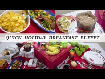 Quick & Easy Christmas Holiday Breakfast Buffet