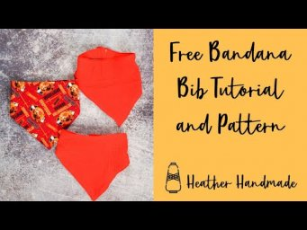 DIY Baby Bandana Bib Tutorial with a Free Sewing Pattern - Best Baby Gift!