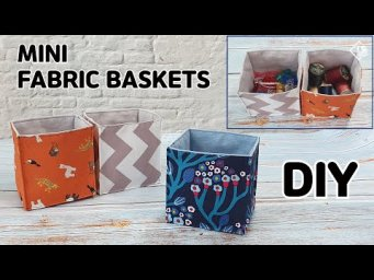 DIY SIMPLE FABRIC BASKETS / Fabric Organizer / easy sewing tutorial [Tendersmile Handmade]