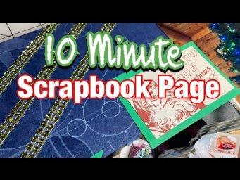 Quick Scrapbook Page - Scrapbook with a Sketch (December 2020 Sketch Challenge)