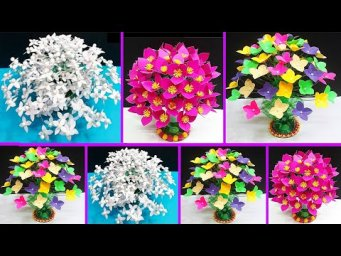 3 types of Low Budget flower bouquet /Guldasta made with  plastic bottle | DIY room décor idea