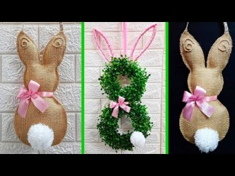 Economical 2 Easy Easter wreath made From waste materials | DIY Low budget Easter/Spring décor idea