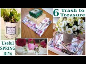 6 Easy & Quick Spring Trash to Treasure DIY / Makeover / Best out of Waste / Recycled Decor Ideas