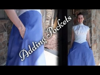 Adding Pockets to a Victorian Skirt