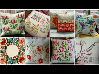 Beautiful hand embroidery design for Cushion Cover / Pillow Cover design ideas / H H Creations