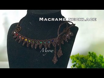 MACRAME NECKLACE WITH SIMPLE KNOTS- MYOW 128
