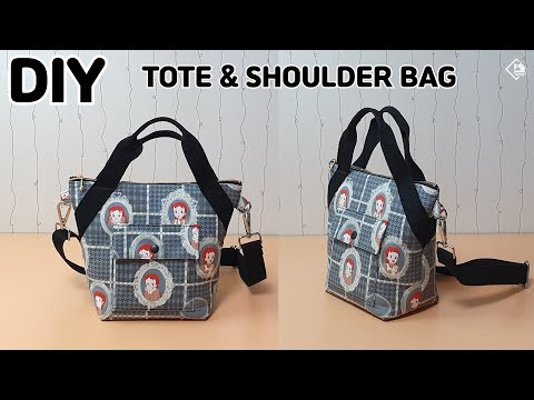 DIY SIMPLE TOTE & SHOULDER BAG/ Make a bag / sewing tutorial [Tendersmile Handmade]