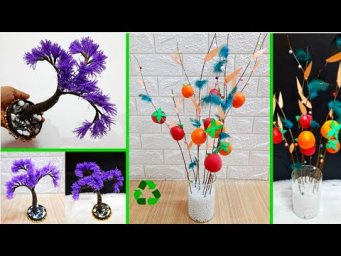 DIY 2 showpiece/flower stick made with recycled materials |Best out of waste Home Decorations Idea