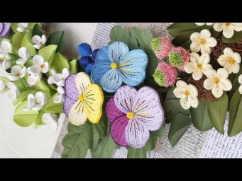 Quilling Pansy Flower Tutorial | DIY Paper Pansy Flower Home Decoration
