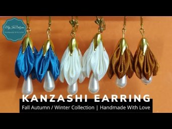 DIY Kanzashi Earring - Fall Autumn / Winter Collection | MyInDulzens