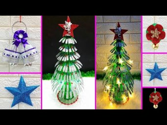 4 Economical Christmas Craft idea with waste plastic bottle |DIY Low budget Christmas craft idea