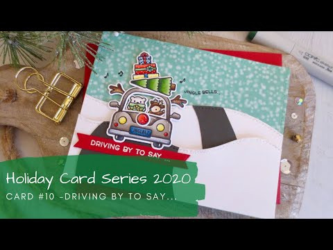 Holiday Card Series 2020 #10 | Copic Coloring + Card Sketches | Lawn Fawn