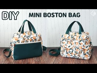 DIY mini boston bag/ make a bag/ free pattern/ sewing tutorial [Tendersmile Handmade]