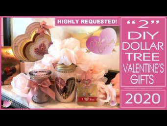 Dollar Tree Valentine's Gift Ideas - 2 HIGHLY REQUESTED DIYs - Altered Heart Jar and Mini Album