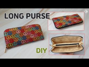 DIY ZIPPERED LONG WALLET/ Long purse with divider/ sewing tutorial [Tendersmile Handmad]