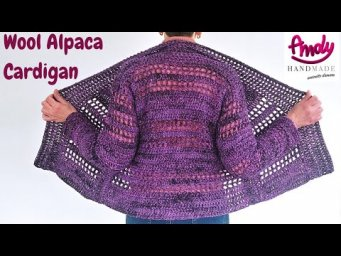 TUTORIAL CARDIGAN WOOL  Uncinetto Facile Andy Handmade