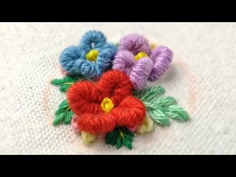 Hand Embroidery - DIY Hairtie