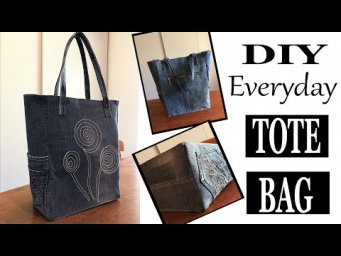 DIY BAG | DIY JEANS TOTE BAG | RECYCLED OLD JEANS | COUDRE UN SAC TOTE | CUCIRE UNA BORSA TOTE