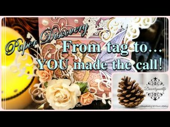 YOU Made the Call! From Tag to ... | Paper Discovery | Craftstash DT Project | Olga Direktorenko