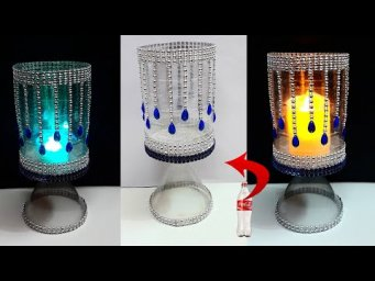 How to make Tealight holder/Showpiece from Plastic Bottle | Best out of waste home decoration idea