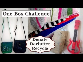 One Box Challenge Declutter Donate Recycle Inspiration Ideas