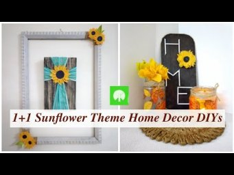 Dollar Tree Sunflower Fall Farmhouse Decor 1 & Bonus DIY #WithMe / MomDas Life Handmade