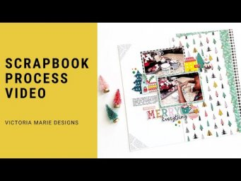 Merry Christmas!  Scrapbook Process Video | Merry Everything!