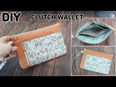 DIY DOUBLE ZIPPER CLUTCH BAG/ clutch wallet/ zipper pouch/ sewing tutorial [Tendersmile Handmade]