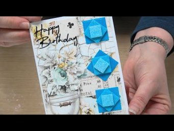 #348 Use 1 color of embossing powder to make stunning gradations of color with help from Stampendous