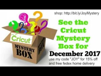 Cricut Mystery Box Dec 2017