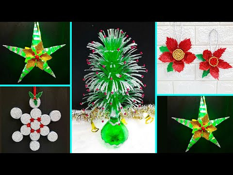 4 Low budget Christmas Craft/Ornament with recycled materials |Best outof waste Christmas craft idea