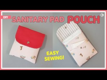 DIY/ SANITARY PAD POUCH/ SQUARE POUCH/ EASY SEWING/ 쉽고 간단하게 생리대파우치 만들기/ 사각파우치 만들기 [Tendersmile]