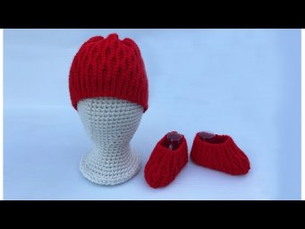 How to crochet EASY booties & beanie set for baby | Cute & Easy baby booties & beanie for beginners
