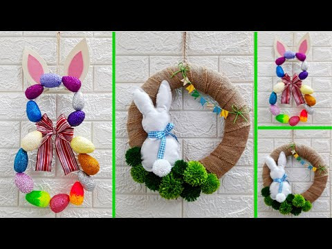 2 Economical Easter/Spring Craft made with waste materials |DIY Low budget Easter décor idea(Part17)