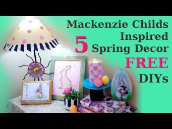 5 FREE Stay at Home Mackenzie Childs Inspired Spring Decor DIYs Friends Friday Hop
