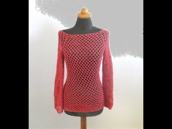 Top Down Crochet Sweater---easy and fast