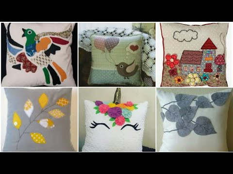 DIY Patch Work Cushion Cover design / diy pillow cover design / Heavenly Handmade Creations