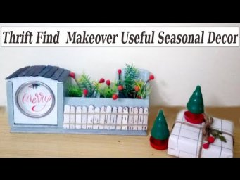 Thrift Find Makeover DIY Christmas Decor $5 Goodwill Challenge 2019