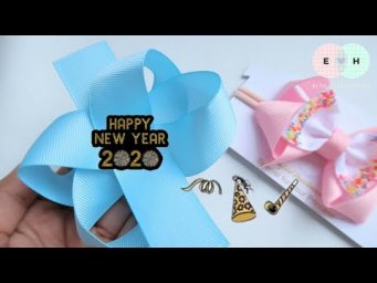 New Year's Day | Holiday - January 1 | How To Make a Big Bow - Easy Bow Making | DIY by Elysia