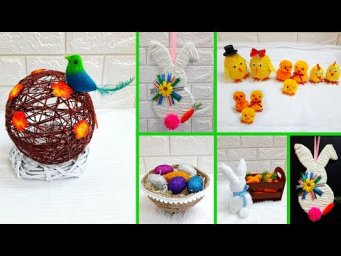 DIY 8 Easter craft making idea step by step at home |DIY Low budget  Easter decoration idea