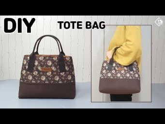 DIY Tote Bag Making Without Zipper/ Simple Handbag/ easy sewing tutorial [Tendersmile Handmade]