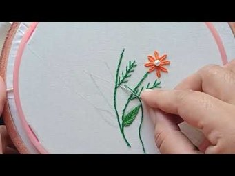 _Easy Flower Embroidery Tutorial, Simple Flower Design_Beautiful Design Of Hand Stitch