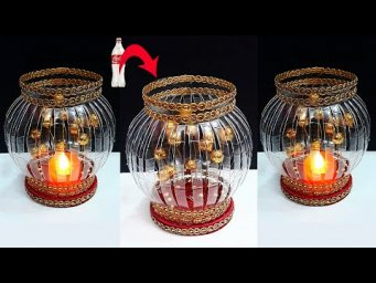 Showpiece/Tealight holder made from Plastic Bottle| Best out of waste home decoration idea