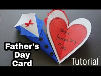 Father's Day Special Greeting Card Tutorial||How to make Father's day greeting card