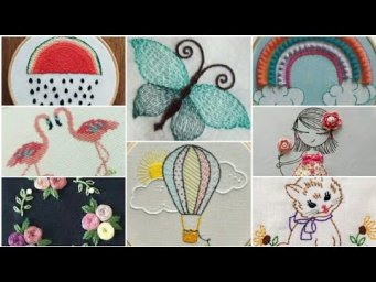 New Hand Embroidery designs for babies and kids dress / Hand Embroidery Design Patterns