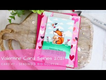 Valentine Card Series 2021 #7 | Copic Coloring Woodland Critters | MFT Stamps