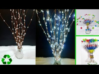 Best out of waste 2 showpiece/flower stick made with recycled materials | DIY Home Decorations Idea